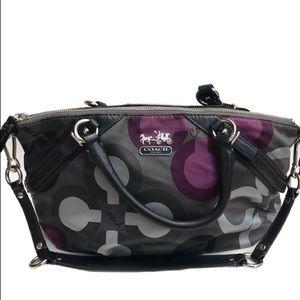 Coack Madison Sophia clover shoulder satchel bag
